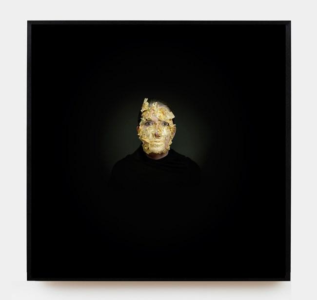 Portrait with Golden Mask by Marina Abramović contemporary artwork