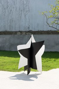 Dancing star (black and white) by Wonwoo Lee contemporary artwork sculpture