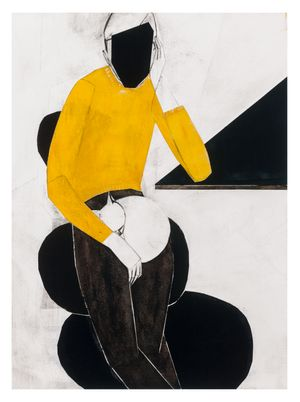 Yellow pullover by Iris Schomaker contemporary artwork