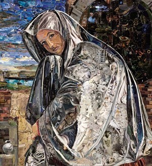 Repro (Saints): Mary Magdalene, after Giovanni Girlamo Savoldo by Vik Muniz contemporary artwork