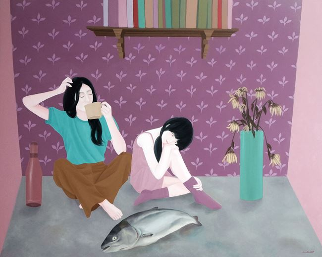 Dreaming About A Dead Fish by Jayvee David contemporary artwork