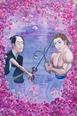 Past Life Regression Painting_The Two Fighting Over Me by Yeesookyung contemporary artwork