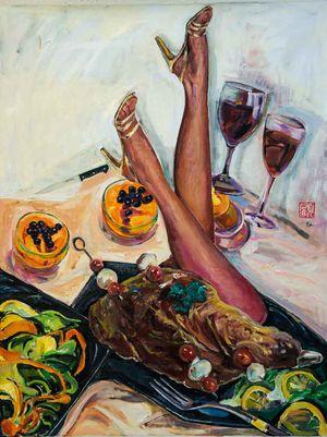 Roast Leg by Fu-sheng Ku contemporary artwork