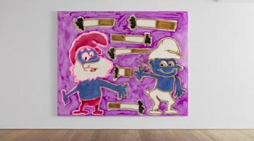 Contemporary art exhibition, Katherine Bernhardt, Product Recall: New Pattern Paintings at Xavier Hufkens, Rivoli, Belgium