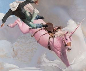 Airborne by Will Cotton contemporary artwork