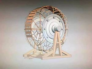 Wheel-cage (Rendering) by Yin Xiuzhen contemporary artwork