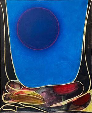 Big Composition 5 (Blue Moon) by Aurélie Gravas contemporary artwork