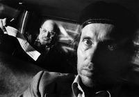 Self-Portrait with Passenger Allen Ginsberg by Ryan Weideman contemporary artwork photography