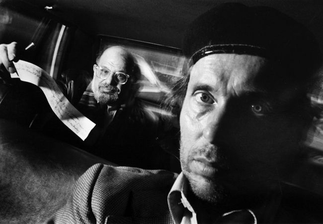 Self-Portrait with Passenger Allen Ginsberg by Ryan Weideman contemporary artwork
