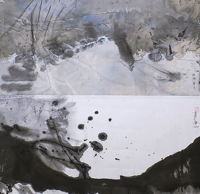 Full Moon at West Lake S027 西湖望月 S027 by Lan Zhenghui contemporary artwork