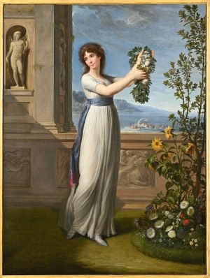 Josephine Bonaparte Crowning the Myrtle Tree by Andrea Appiani contemporary artwork