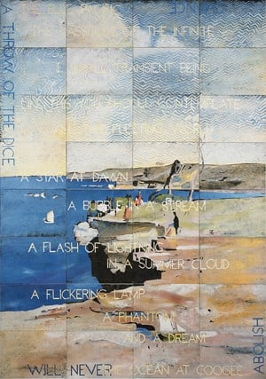 The Blue Pacific by Imants Tillers contemporary artwork