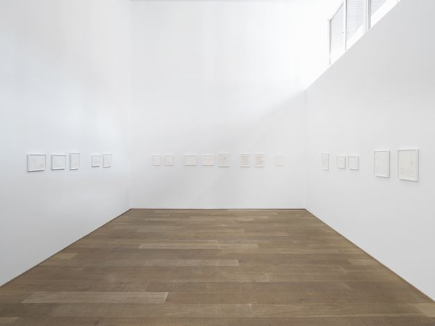 Exhibition view: Pierre Guyotat, Xavier Hufkens, 107 rue St-Georges, Brussels (26 May–25 July 2020). Courtesy Xavier Hufkens. Photo: Allard Bovenberg.