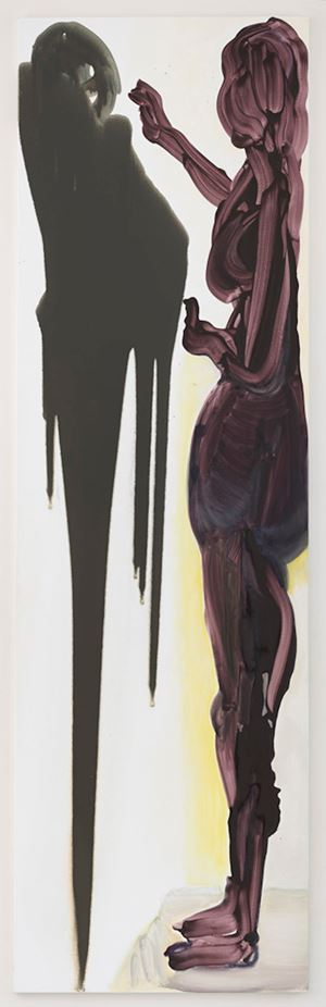 The Origin of Painting (The Double Room by Marlene Dumas contemporary artwork painting, works on paper