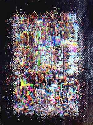Extrakt by Anette Kuhn contemporary artwork print, textile