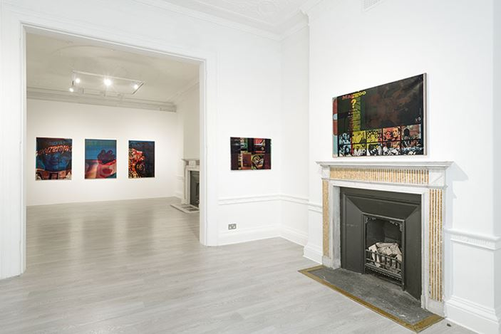 Exhibition view: Mimmo Rotello, Beyond Décollage: Photo Emulsions and Artypos, 1963–1980, Cardi Gallery, London (3 March–12 December 2020). Courtesy Cardi Gallery.