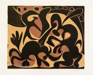 Pique (noir et beige) by Pablo Picasso contemporary artwork