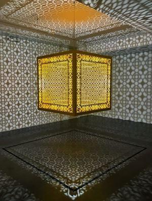 Hidden Diamond - Saffron by Anila Quayyum Agha contemporary artwork