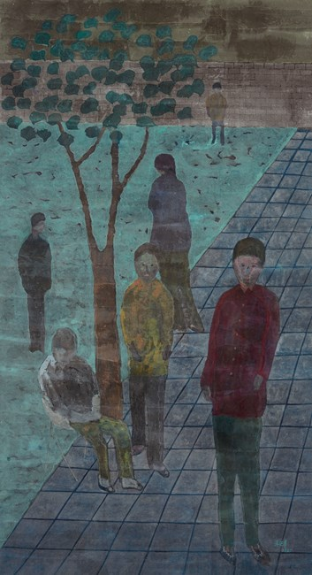 People in the Garden by Chu Hing-Wah contemporary artwork