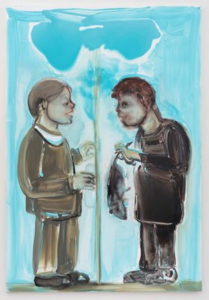 Le Joujou du Pauvre (The Poor Boy's Toy) by Marlene Dumas contemporary artwork painting, works on paper