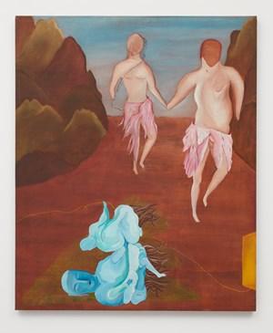 Budas en la Cordillera de los Andes by Cecilia Vicuña contemporary artwork