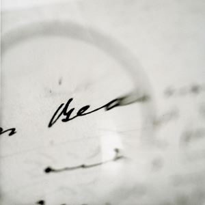 Joyce's Glasses - Viewing a letter to Sylvia Beach, the first publisher of Ulysses by Tomoko Yoneda contemporary artwork