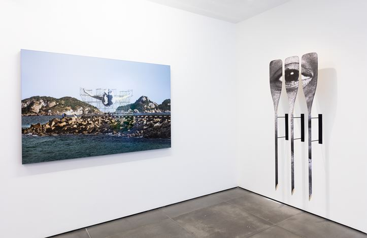 Exhibition view: JR, Patamar, Galeria Nara Roesler, Rio de Janeiro (22 November 2019–21 February 2020). Courtesy the artist and Galeria Nara Roesler. Photo: Pat Kilgore.