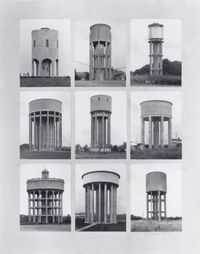 Water Towers by Bernd & Hilla Becher contemporary artwork print