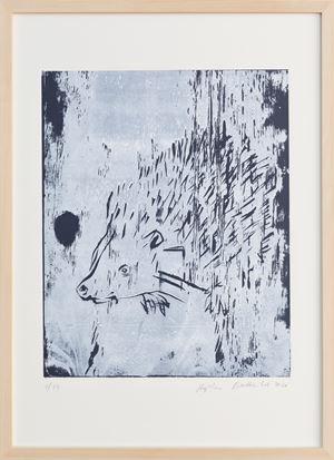Igel / Hedgehog by Stephan Balkenhol contemporary artwork