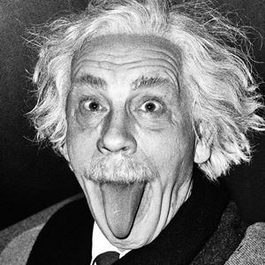 Arthur Sasse/ Albert Einstein Sticking Out His Tongue (1951) by Sandro Miller contemporary artwork