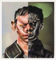 Contemporary art exhibition, Nathaniel Mary Quinn, NOT FAR FROM HOME; STILL FAR AWAY at Gagosian, 980 Madison Avenue, New York, USA