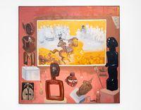 Hiseteri e e sa felelang ka ga Ntwa ya kwa Benin City (The Unfinished History of the Battle at Benin City) by Phoka Nyokong contemporary artwork painting
