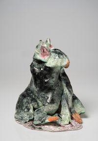 A black wallaby by Pie Rankine contemporary artwork sculpture, ceramics