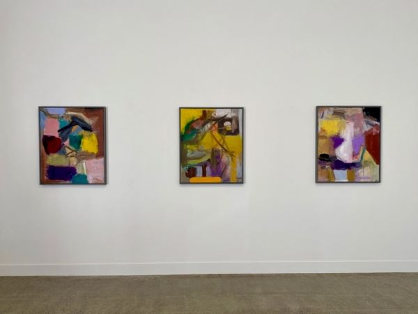 Exhibition view: Robin Neate, Recent Paintings, Hamish McKay Gallery, Wellington (29 August–26 September 2020). Courtesy Hamish McKay Gallery.