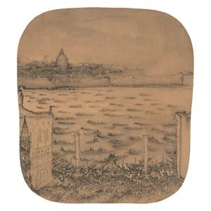 Boat race in Venice by Xu Jianguo contemporary artwork