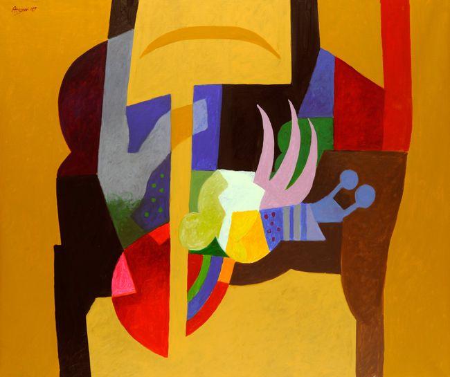 Imaginary Plant by Dia Al-Azzawi contemporary artwork