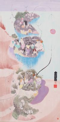 New Year by Luis Chan contemporary artwork works on paper