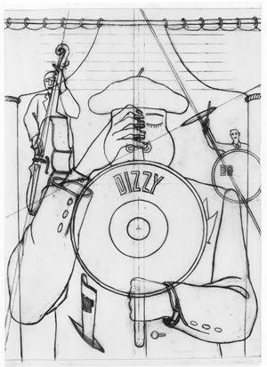"Dessin pour ""Jazzclub, 52nd Street"" by Konrad Klapheck contemporary artwork"