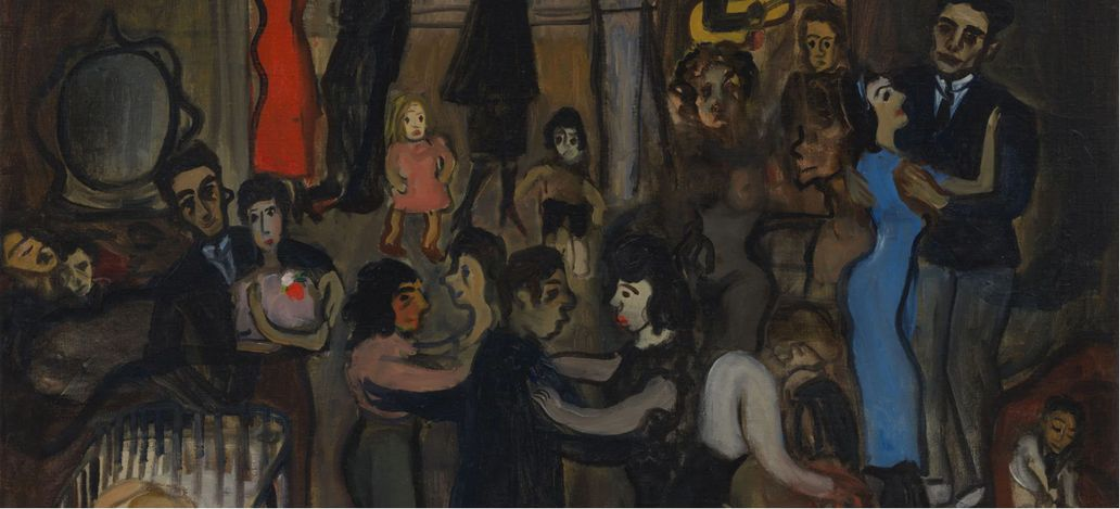 Alice Neel,Spanish Party (1939) (detail). © The Estate of Alice Neel. Courtesy The Estate of Alice Neel and David Zwirner.