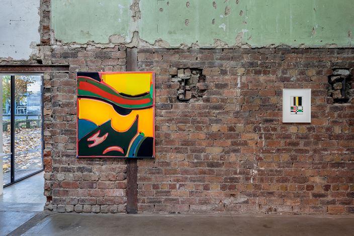 Exhibition view: Matt Connors, FIGURE, The Modern Institute, Aird's Lane, Glasgow (16 November 2019–18 January 2020). Courtesy the Artist and The Modern Institute/Toby Webster Ltd, Glasgow. Photo: Patrick Jameson.