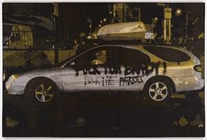 FTB, FTP / fan blanket by Marley Dawson contemporary artwork