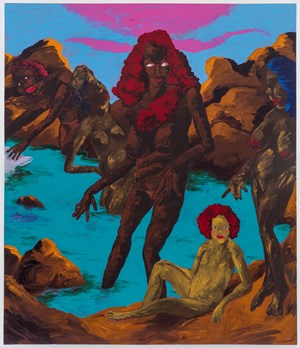 At the Bathers' Pool: Ancient Goddesses and the Contest for Classic Purity by Robert Colescott contemporary artwork