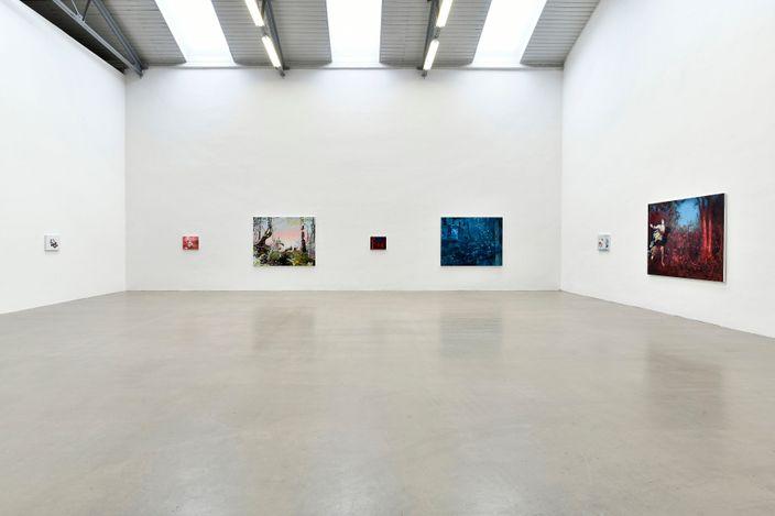 Melora Kuhn, Tales from the Dark, 2021, Galerie EIGEN + ART Leipzig, Installation view, photo: Uwe Walter, Berlin, courtesy Galerie EIGEN + ART Leipzig/Berlin