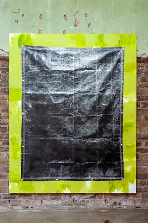 Olive Drab Heavyweight Canvas Tarp (Green) by Gardar Eide Einarsson contemporary artwork