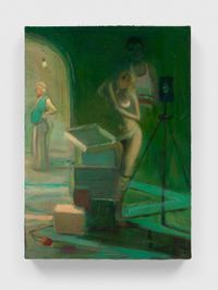 Green Bob and Lavinia by Lisa Yuskavage contemporary artwork painting