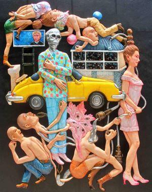 Shrouds Have No Pockets by Entang Wiharso contemporary artwork