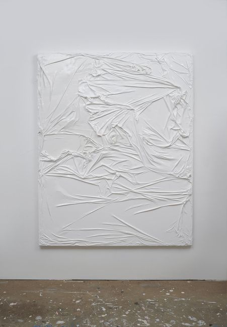 Untitled (White on White #1) by Huseyin Sami contemporary artwork