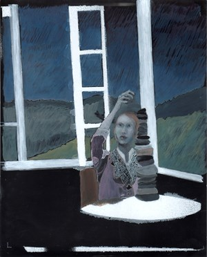 Untitled (girl stacking) by Summer Mann contemporary artwork