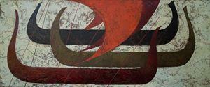Long Boats by Timur D'Vatz contemporary artwork