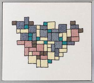 Mibar Bathroom Tiles by Erica van Zon contemporary artwork sculpture, textile